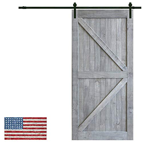 Made in U.S. Heavy Duty Sturdy Sliding Barn Door Slab - Unfinished Natural Solid Knotty Pine Interior Barn Wood Closet Door Panels 36 / 42inch x 84inch (Sliding Barn Door Hardware Kit Not Included)