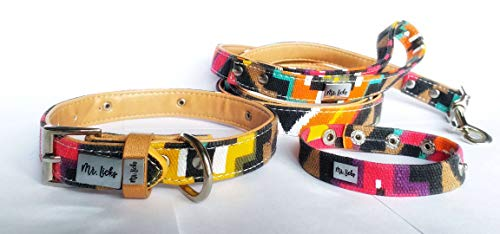Matching Leash Collar and Bracelet 3 Piece Set Summer Colors Limited Edition (Terra Cotta, Medium)