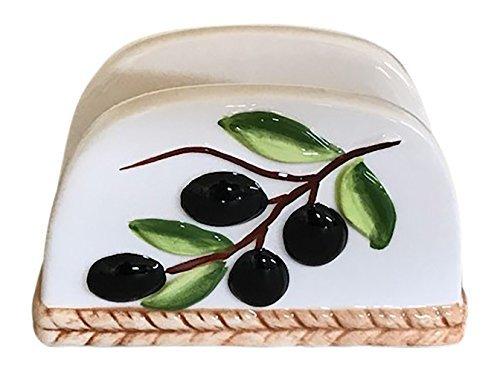 Tuscan Olive Design Napkin Holder ()