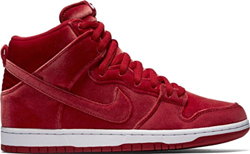 (Nike Men's Dunk High Premium SB Skate Shoe (12 D(M) US, Gym Red/Gym Red/Wht) )