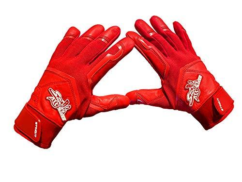 Stinger Red Color Crush All red Batting Gloves for Baseball & Softball