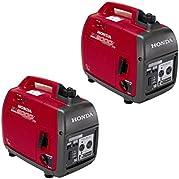 Honda EU2000IC Companion Super Quiet 2000-Watt Portable Gas Generators, 2-Pack