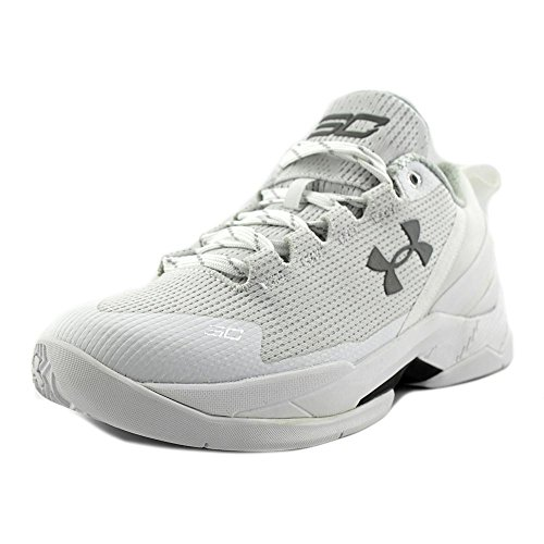 Youth Low Top Shoes - Under Armour Bgs Curry 2 Low Youth US 6 White Basketball Shoe