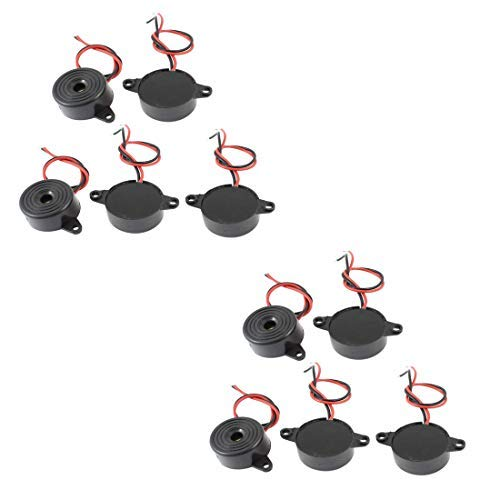 Yohii 10 Pcs DC 3-24V 85dB Sound Electronic Buzzer Alarm Black 23 x 12mm Active Buzzer