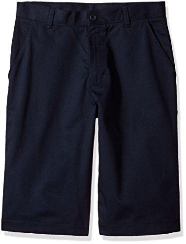 IZOD Uniform Young Men's Flat Front Short, Navy, 36 School Mens Short