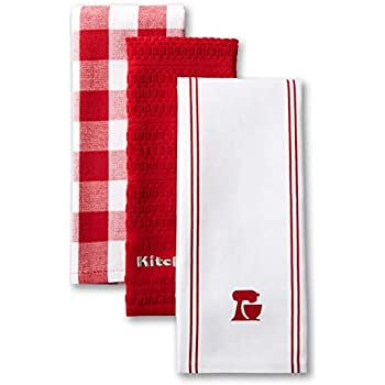 KitchenAid Mixer Kitchen Towel Set, Set of 3, Signature Red