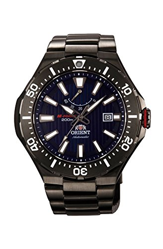 Orient #SEL07001D Men's M-Force Delta Black IP Stainless Steel Power Reserve Automatic Dive ()