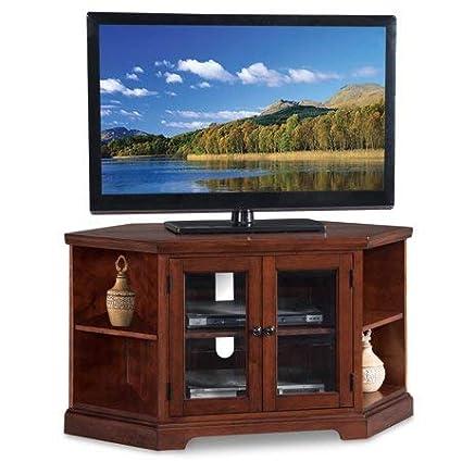 sale retailer bf8d3 13f4c Amazon.com: Corner Tv Stand Console, Double Door Cabinet ...