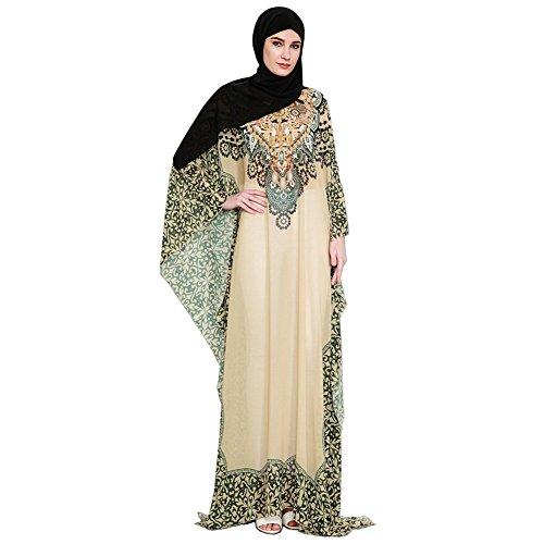 Hougood Dresses for Women Summer Abaya Maxi Dress Muslim Islamic Arab Dubai...