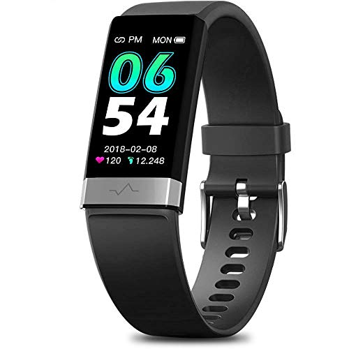 MorePro SpO2 Blood Oxygen Blood Pressure Heart Rate Monitor Waterproof Activity & Fitness Tracker Smart Watch with HRV…