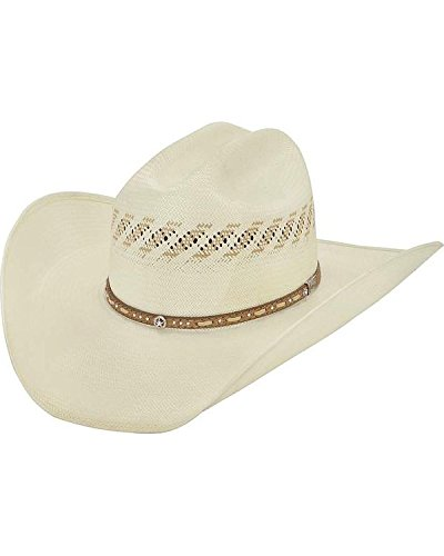 Larry Mahan Men's 10X Granger Straw Cowboy Hat Natural 6 ()