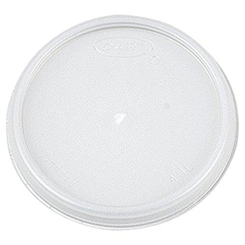 Dart Plastic Lids, Fits 4oz Cups, Translucent - 10 sleeves of 100 lids each.
