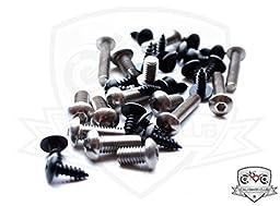 Kawasaki ZX6R 2007-2008 Motorcycle Fairing Bolt Kit, Ninja ZX-6R Complete Screws and Fasteners set 07 08