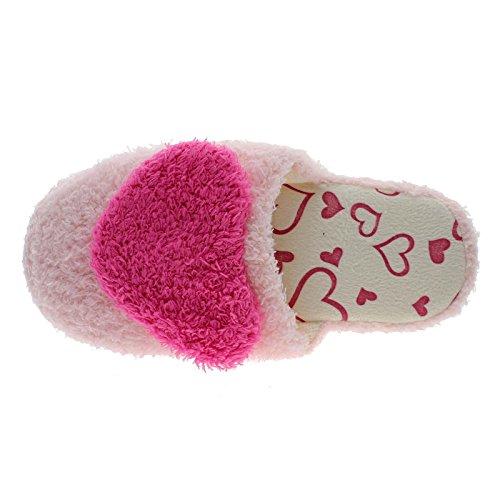 HuntGold zapatillas amor corazón de algodón antideslizante en dormitorio interior hot pink