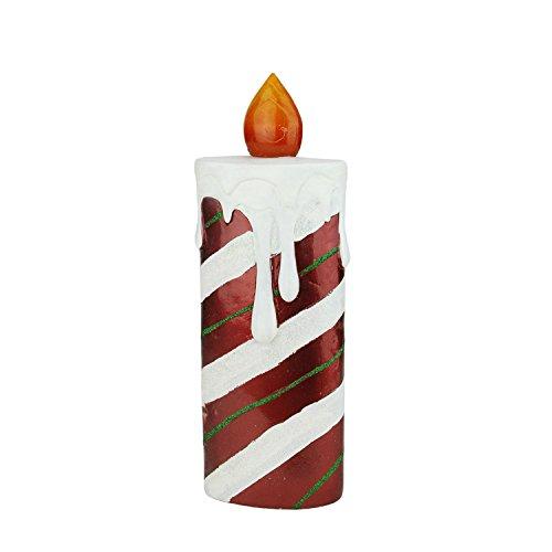 (Northlight LED Lighted Festive Candy Cane Striped Candle Christmas Decoration, 13.75