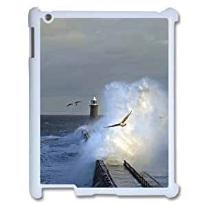 Ipad 2,3,4 2D Personalized Hard Back Durable Phone Case with Beautiful Lighthouse Image