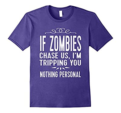 Funny Halloween Zombie TShirt: I'm Tripping You Tee