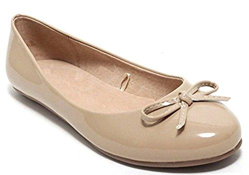 Damen Ballerinas Slipper Flats Sommerschuhe Sommer Sandalen Schuhe beige