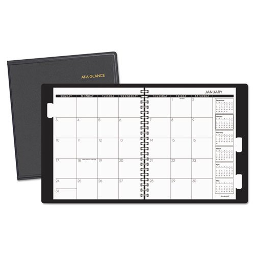 At A Glance AAG7023605 Monthly Planner 3 Year44; Synthetic Leather - Black   B00Q4JOQSI
