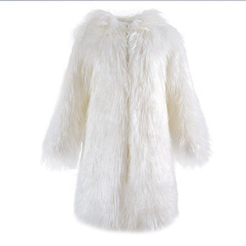 Alovemi Women's Long Hooded Faux Fur Parka Jacket Coat Outerwear Overcoat