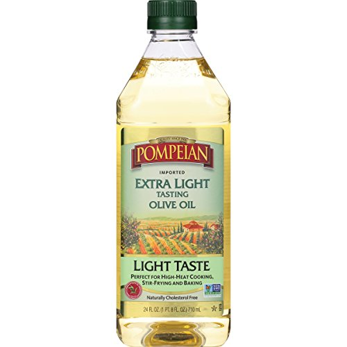 Pompeian Extra Light Tasting Olive Oil, 24 Ounce (Best Organic Olive Oil For Cooking)