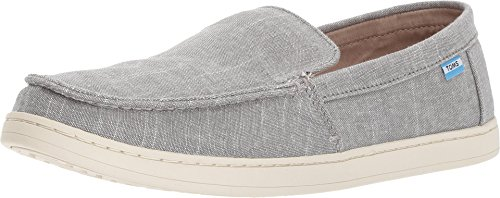 TOMS Men's Aiden Steel Grey Striped Slub Chambray Oxford