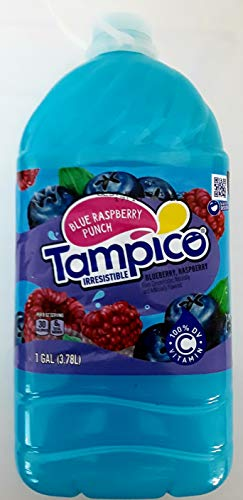 TAMPICO BLUE RASPBERRY PUNCH (BLUEBERRY AND RASPBERRY FLAVOR) 1 GALLON (3.78L)