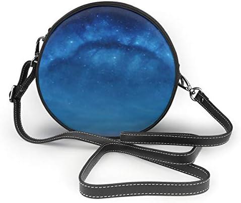 レディース 斜めがけバッグ ザーショルダーバッグ 肩掛けバッグ 星空 銀河 トートバッグ 丸形 ミニバッグ 財布 デート 面白い 旅行用