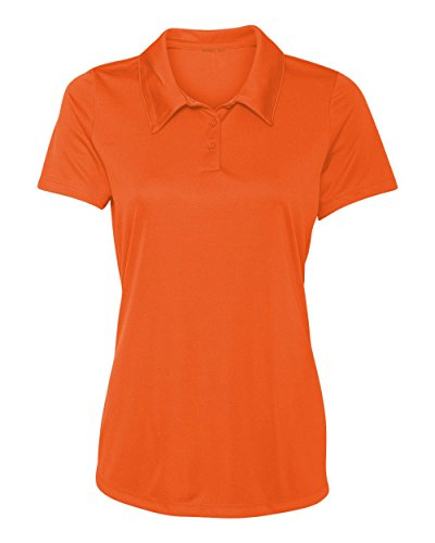 Animal Den Women's Dry-Fit Golf Polo Shirts 3-Button Golf Polo's in 20 Colors XS-3XL Shirt ORANGE-2XL ()