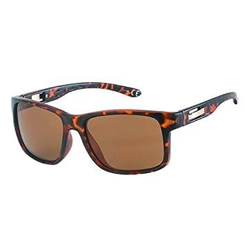 Sonnenbrille Herren 400 UV Ausstanzung Metall Zierstreifen Bügel Retro yyenIII