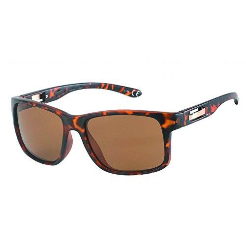 Gafas de 400 correa Metal Retro Marrón Hombres ajuste sol perforado UV de dUq5pO