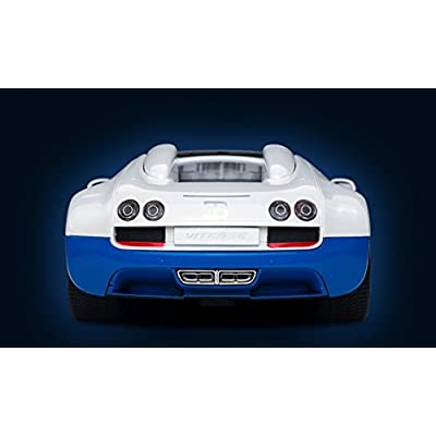 Radio Remote Control 1/14 Bugatti Veyron 16.4 Grand Sport Vitesse Licensed RC Model Car (White/Blue): Toys & Games