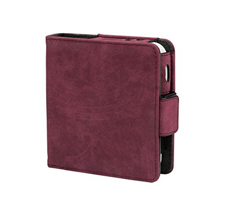 Electronic Cigarette Kit - CAIUL Electronic Cigarette Carrying Case Bag Holder with PU Leather for Electronic Cigarette Accessories Kit, Credit Card,ID Card, Cash (Red Wine)