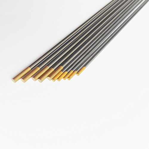 "high-quality B.W.P 1.5% Lanthanated Tungsten Electrodes Assorted Size For Carbon Steel DC TIG Welding 1.6mm/2.4mm150mm (1/16"" 3/32""6"")"