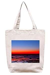 Horizonte rojo–Algodón Canvas Tote Bag