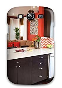 Hard Plastic Galaxy S3 Case Back Cover,hot Eclectic Kitchen With Zigzag Backsplash Case At Perfect Diy