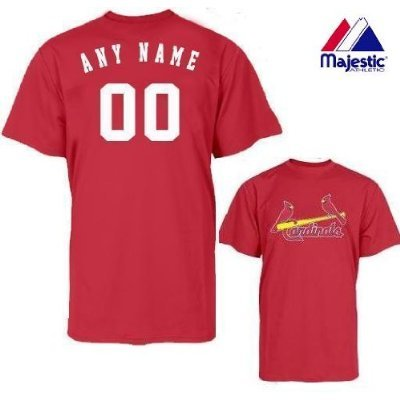 84c21e0e St. Louis Cardinals Personalized Custom (Add Any Name & Number) 100% Cotton  T-Shirt Replica Major League Baseball Jersey