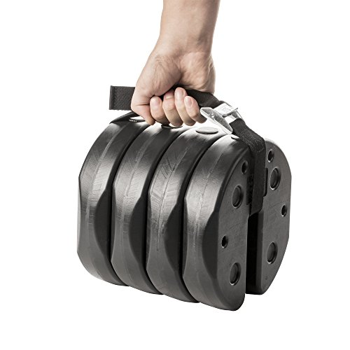US Weight Deluxe Eco-Canopy Weights with Carry Strap - 40 ()
