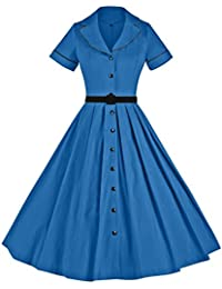 Women's 1950sVintage Classical Casual Swing A-Line Dress