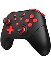 Wireless Controller for Switch Remote Pro Controller with Wake Up, NFC, Turbo, Gyro Axis, Dual Shock (Black Rad)