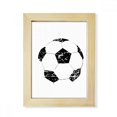 DIYthinker Simple Black Football Pattern Soccer Desktop Wooden Photo Frame Picture Art Painting 6x8 inch by DIYthinker