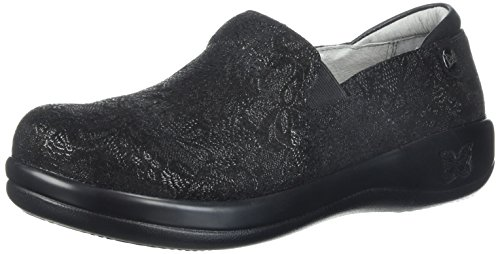 Alegria Women's Keli Loafer, Black Leaf, 40W Wide EU (9.5-10 US) by Alegria