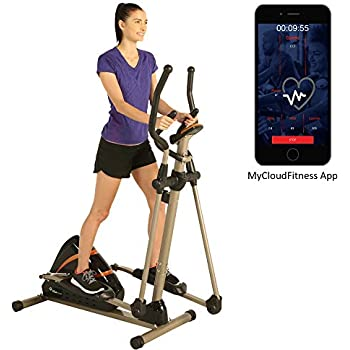 Exerpeutic 2000XL Bluetooth Smart Cloud Fitness High Capacity Elliptical Trainer with Goal Setting and Free App