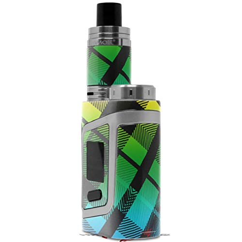 Skin Decal Wrap for Smok AL85 Alien Baby Rainbow Plaid Vape NOT Included