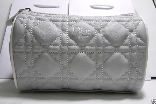Dior Beauty Makeup Trousse Quilted Cannage Bag Pouch Clutch Grey - worldwide (Dior Pouch)