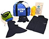 National Safety Apparel KIT2LC11XL10 ArcGuard UltraSoft Arc Flash Kit with Long Coat and Leggings, 12 Calorie, X-Large, Size 10, Navy