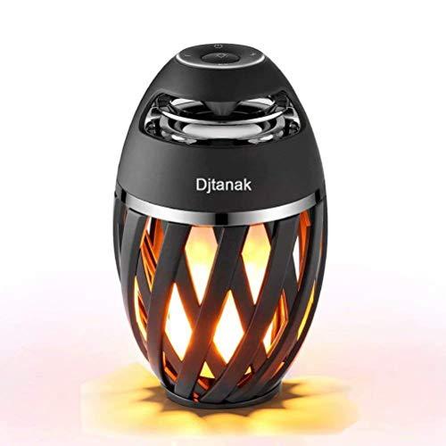 Outdoor Flame Bluetooth Speakers, Djtanak 2 Led Lantern Speakers with Superior Stereo Sound, Exclusive BassUp,Long Playtime, IP65-Waterproof, Wireless Xmas Desk Lamp Speaker for iPhone, Samsung - Outdoor Lantern Speaker