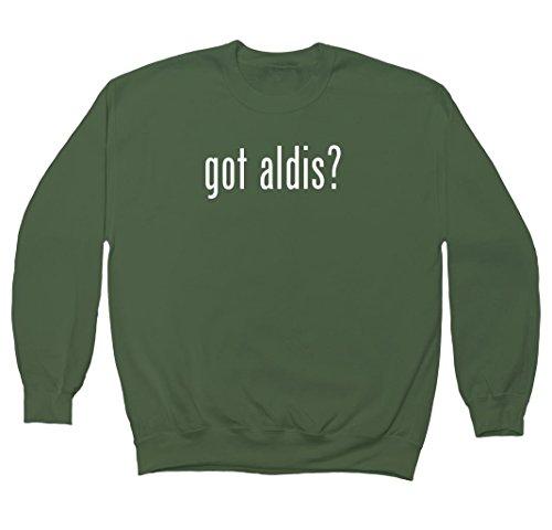 got-aldis-mens-crewneck-fleece-sweatshirt-military-x-large