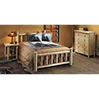 Rustic Natural Cedar Furniture 100038D Handcrafted Bed, King/80, Natural