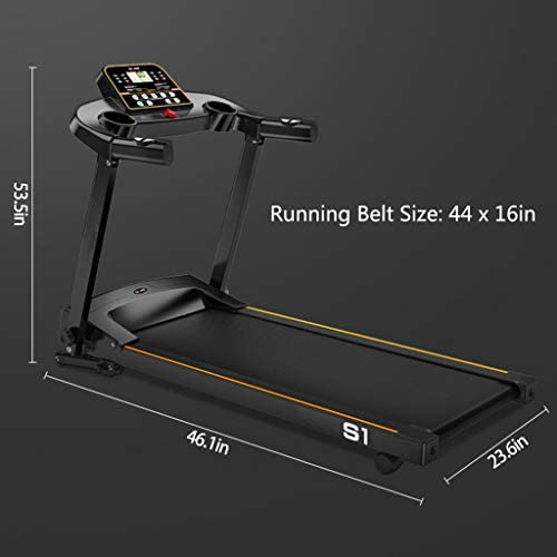 """MENGQIN Home Foldable Running Machine Easy Setup & Storage with LCD Display Screen and 16"""" x 44"""" Walking Surface 2.0HP Running Machine [ U.S. Shipping ] 7"""